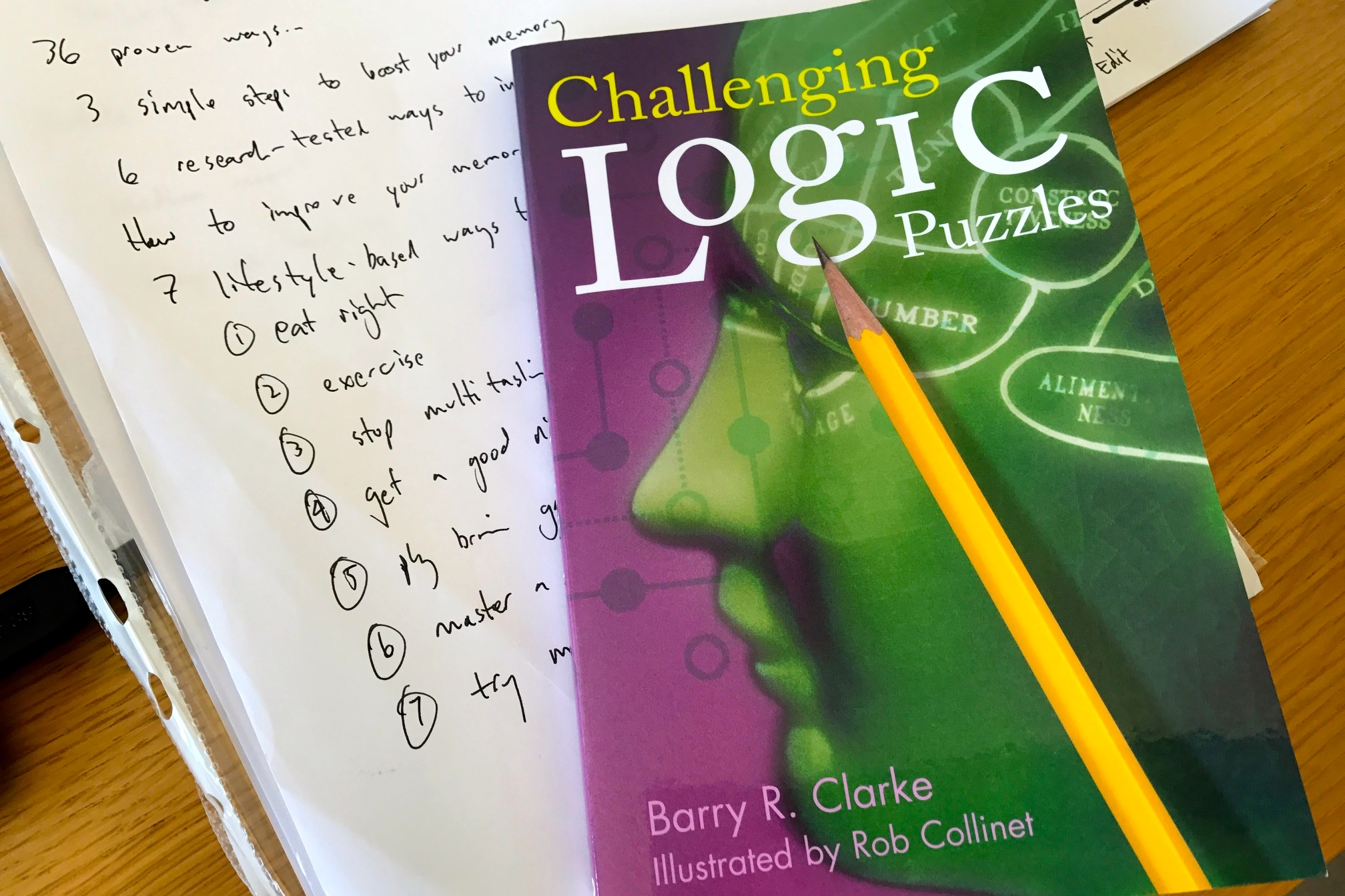 Improvement_Logic Puzzles to help improve brain function generally and memory specifically